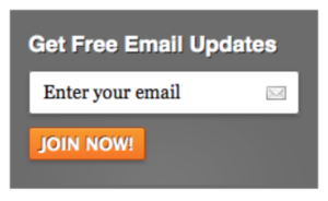 Bad email sign-up: Free email updates