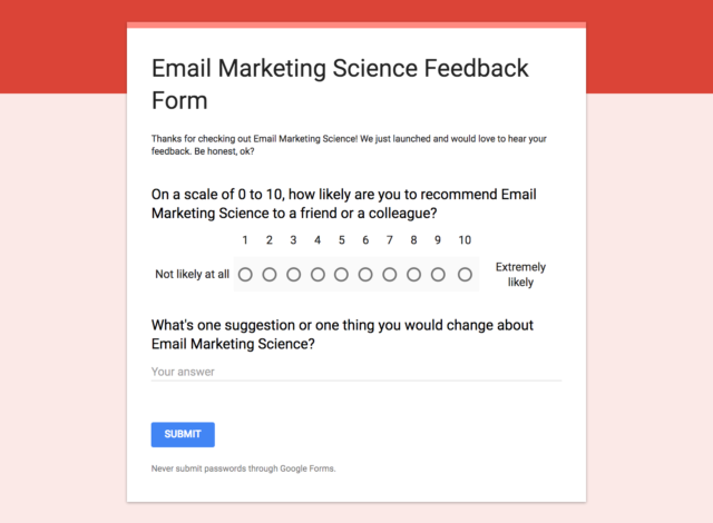 survey your readers